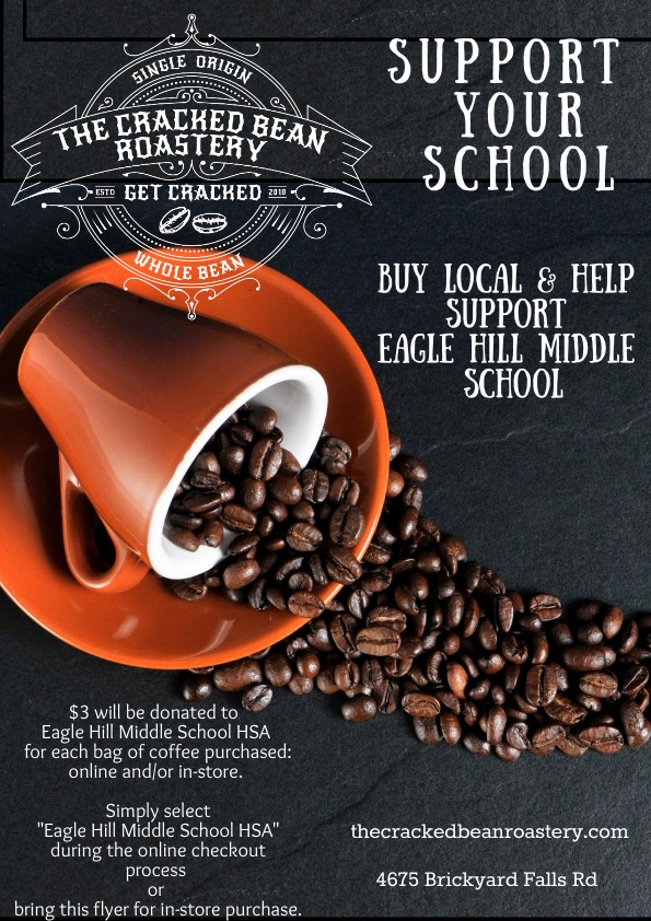 2019 Cracked Bean Coffee Fundraiser flyer image
