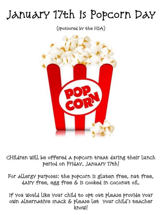 2020-01 HSA Popcorn Day flyer image