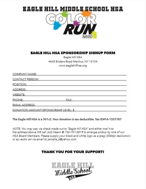 Color Run Donation Form page 2 image