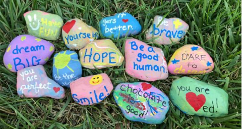 Creating Kindness Rocks with Kids - No Time For Flash Cards