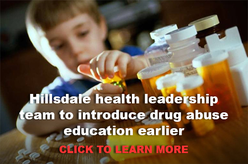 Hillsdale health leadership team to introduce drug abuse education earlier