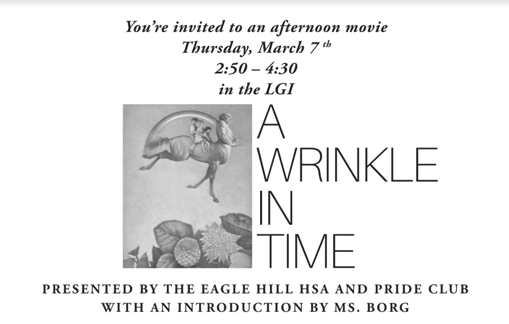 Movie Afternoon image (A Wrinkle In time)