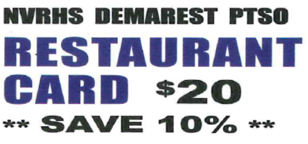 NVD PTSO Dine Out Card