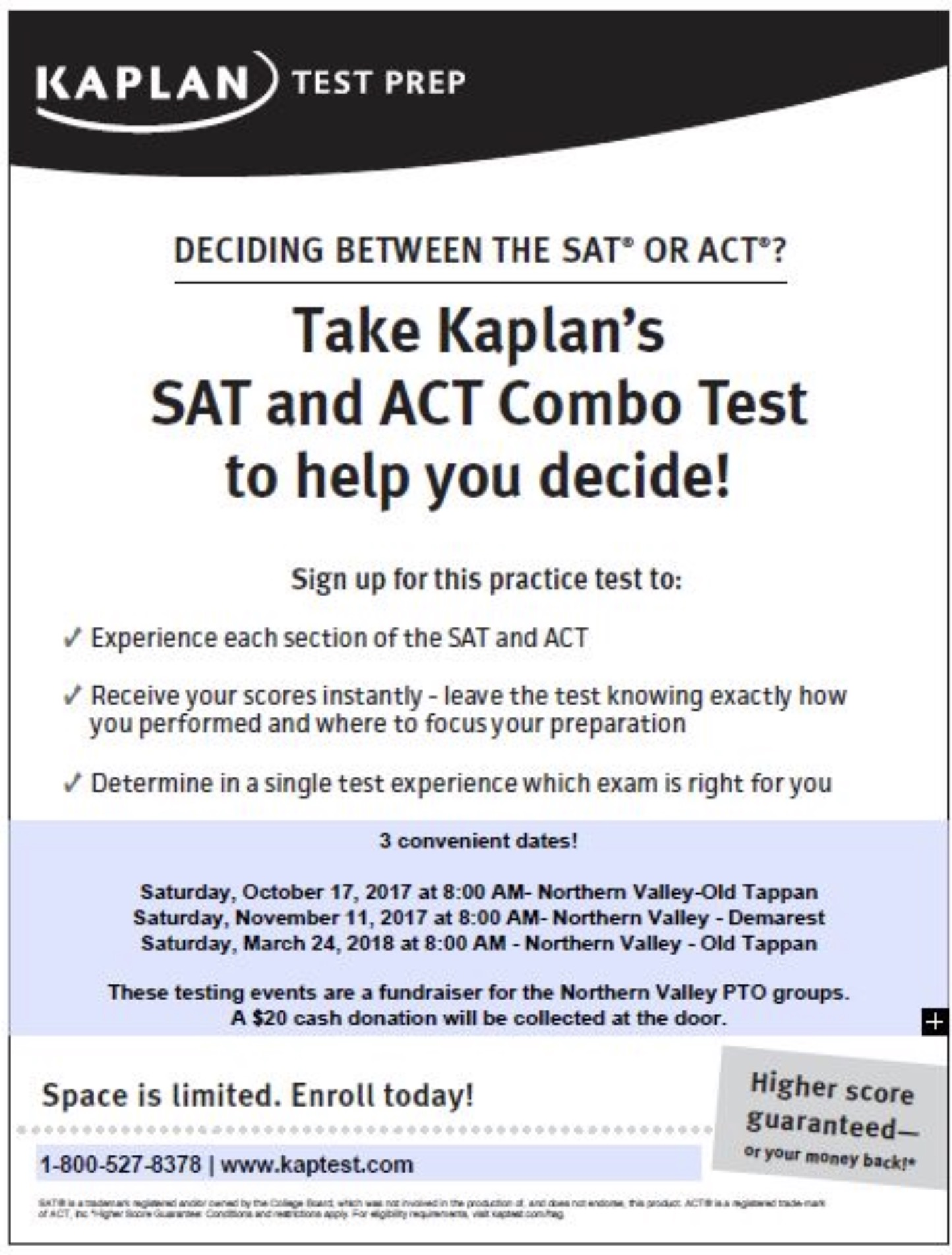 Kaplan sat act combo test
