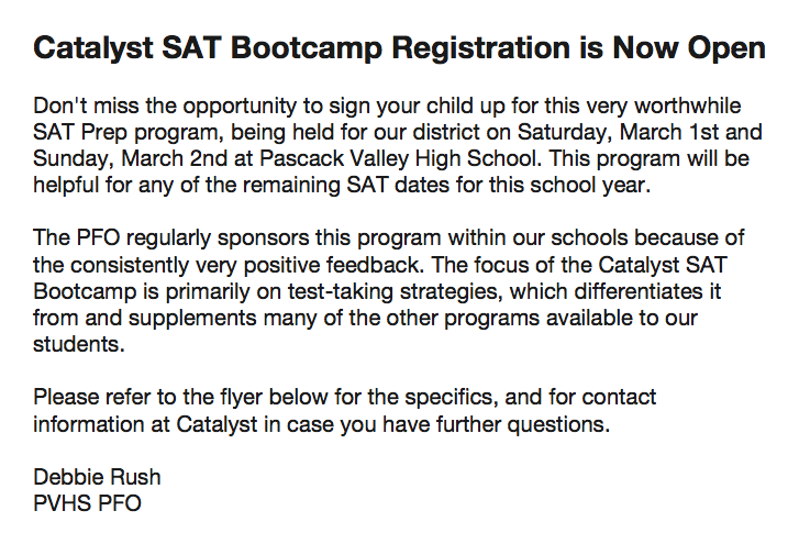 2014 Catalyst SAT Bootcamp