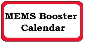 MEMS Booster Calendar